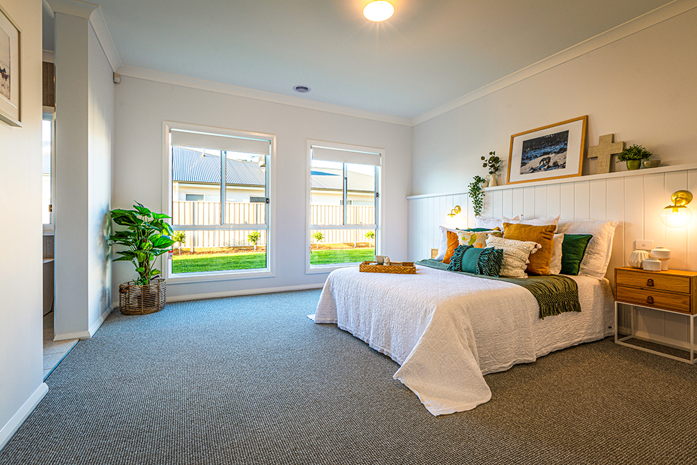 Master bedroom with white walls